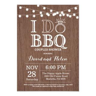 I DO BBQ Invitations Rustic Wedding Engagment