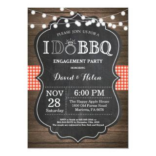 I DO BBQ Invitation Rustic Wedding Engagment