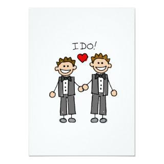 I Do Two grooms Invitations