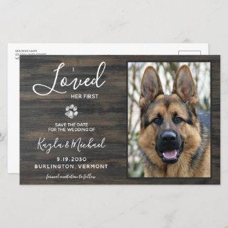 I Loved Her First Rustic Pet Photo Dog Wedding
