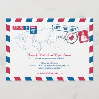 Iceland Air Mail Wedding Save The Date