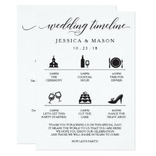 Icon Wedding Itinerary and Wedding Welcome Invitation