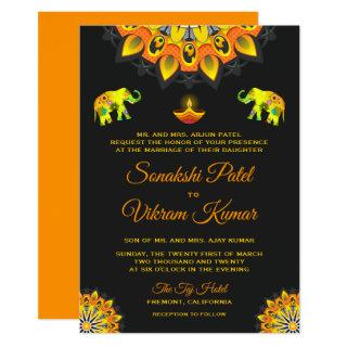Indian Bollywood Style Hindu Wedding Invitation