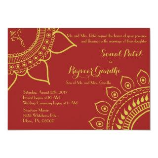 Indian Hindu Ganesh Wedding Invite Garba Mehndi