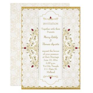 Indian Hindu Gold Wedding Invitation