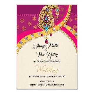 Indian Hindu Wedding Invitation