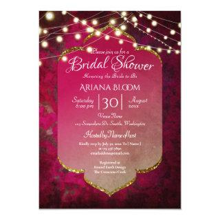 Indian Inspired Boho Damask in Deep Pink Invitations