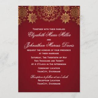 Indian Invitations, choose your color! Invitations