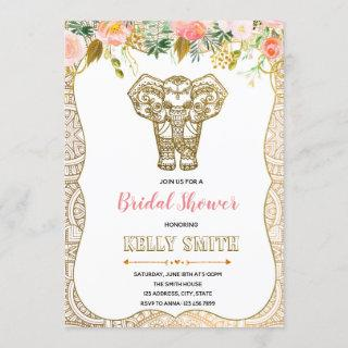Indian themed bridal shower party invitation