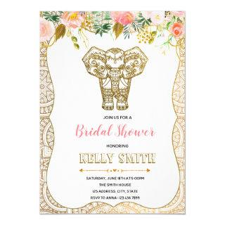 Indian themed bridal shower party Invitations