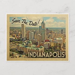 Indianapolis Save The Date Indiana Announcement Postcard