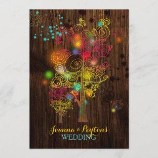 Inspirational Trees Magical Country Wedding Invitation