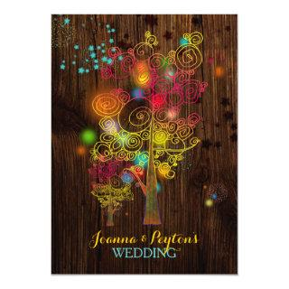 Inspirational Trees Magical Country Wedding Invitations