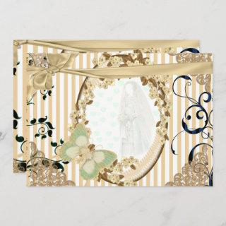 Invitations of wedding old mirror toasted color