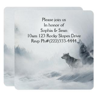 Invitations Party Mist Fog Wolf Destiny Destiny'S