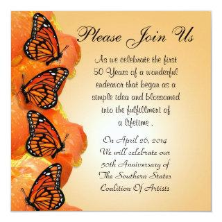Invitations with Monarch Butterflies for any event