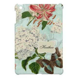 IPad mini - Vintage English Rose Lace n Hydrangea iPad Mini Case