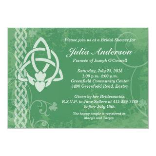 Ireland Claddagh Bridal Shower Invitation