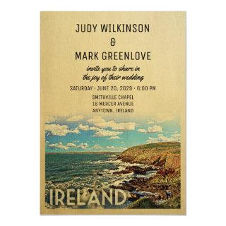 Ireland Wedding Invitation Vintage Mid-Century