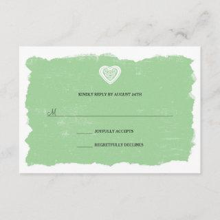Irish Celtic heart RSVP reply card 3991