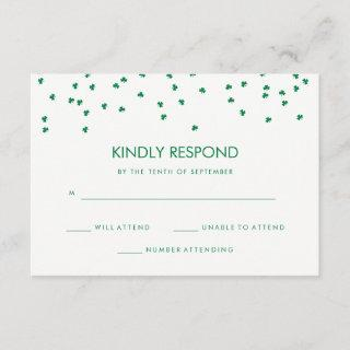 Irish Theme Shamrock Confetti | Wedding Response