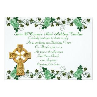 Irish Wedding Invitations Celtic cross