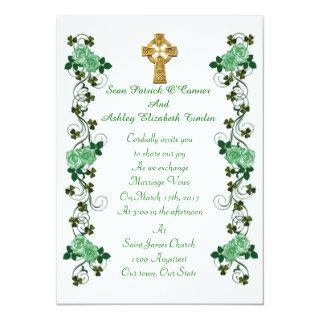 Irish Wedding invitation Celtic cross