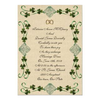Irish wedding Invitations Unity knot