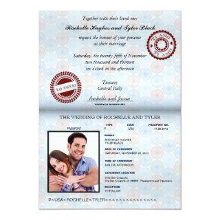 Italy Passport Wedding Invitations_custom unlocked Invitations
