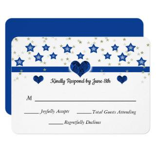 It's Written in the Stars Thin Blue Line Wedding Invitation