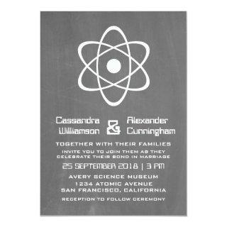 Ivory Atomic Chalkboard Wedding Invite
