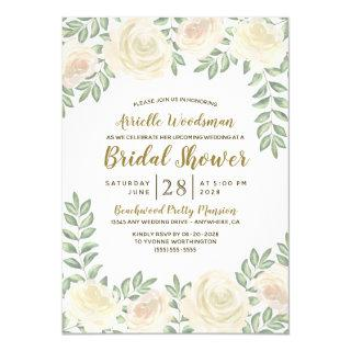 Ivory Blush Champagne Bridal Shower Invitations