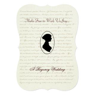 Jane Austen Regency Wedding Invitation Portrait
