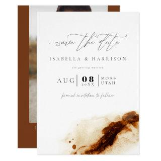 JAYLA | Bohemian Terracotta Photo Save the Date Invitations