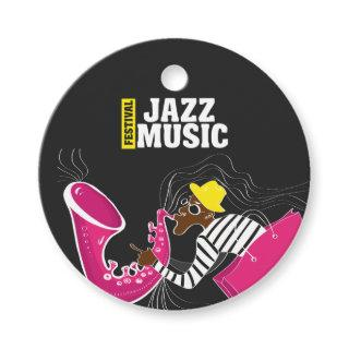 Jazz Music Festival add logo Favor Tags