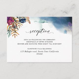 Jewel Tones, Mystic Garden Wedding Reception Enclosure Card