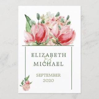 Jewish Wedding Chuppah  Elegant Modern Floral Invitations