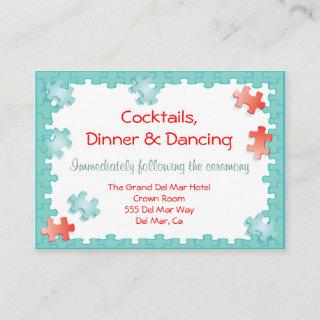 Jigsaw Puzzle Reception Enclosure Card Insert