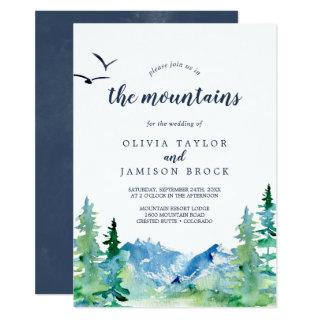 Join Us In The Mountains Destination Wedding Invitations