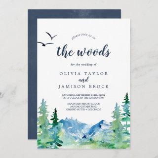 Join Us In The Woods Destination Wedding Invitation