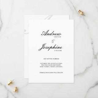 Josephine Classic Flat Save The Date Card
