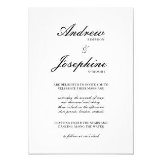 Josephine Classic Simple Wedding Invitations