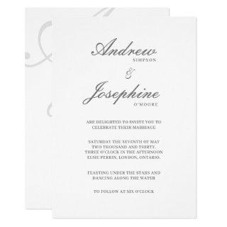 Josephine Wedding Classic Simple Invitation