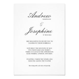 Josephine Wedding Classic Simple Invitations