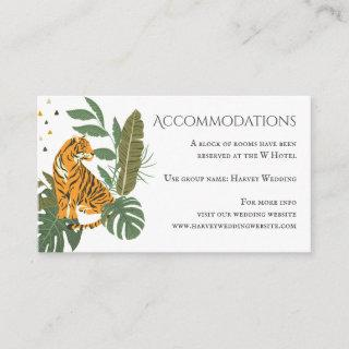 Jungle Safari Tiger Wedding Accommodations Enclosure Card