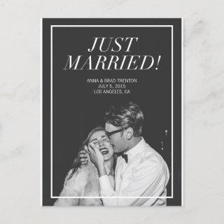 Just Married | Modern Photo Wedding Announcement