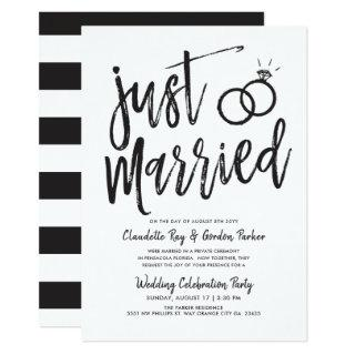 Just Married Script | Post Wedding Party Invitations
