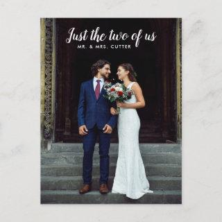 Just the two of us Wedding Announcement