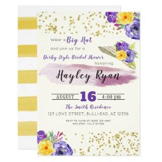 Kentucky Derby Style Bridal Shower Invitations