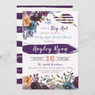Kentucky Derby Style Fall Bridal Shower Invitation